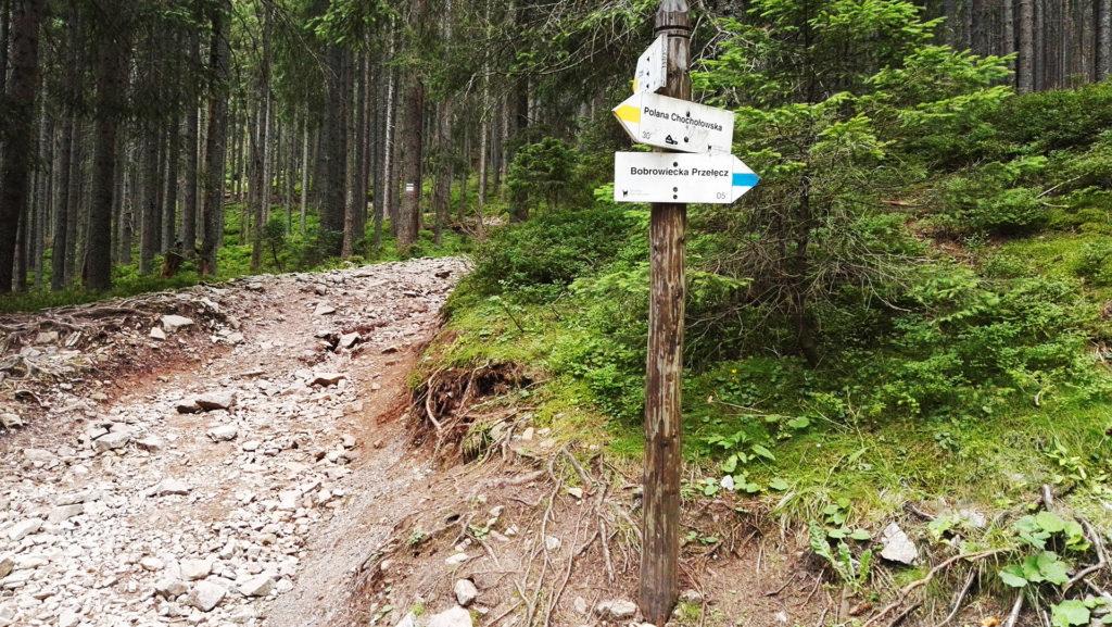 Rozdroże przy Bobrowieckiej Przełęczy