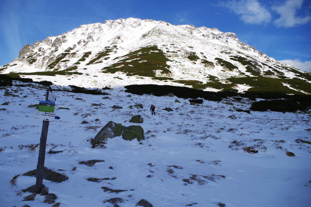 Widok na Kozi Wierch w Tatrach Wysokich