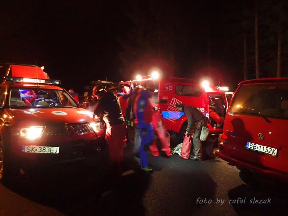 Akcja ratunkowa w Jaskini Salmopolskiej