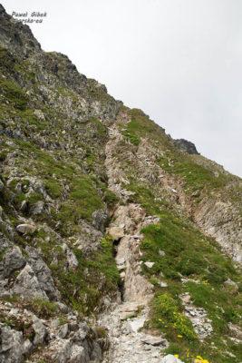 Szlak na Przełęcz pod Chłopkiem. Końcowe podejście na Przełęcz pod Chłopkiem