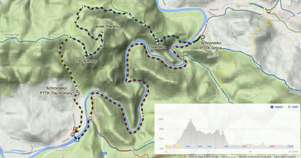 Mapa trasy, źródło: mapa-turystyczna.pl