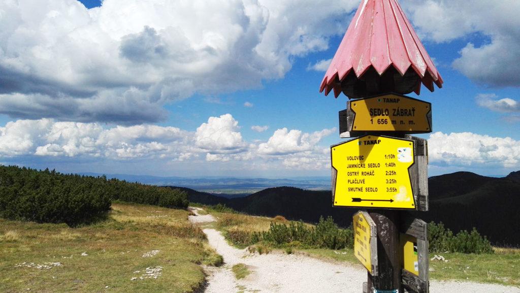 Przełęcz Zabrat (słow. Sedlo Zábrať)