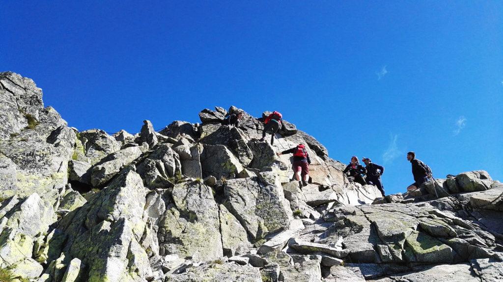 Zejście ze szczytu Świnicy