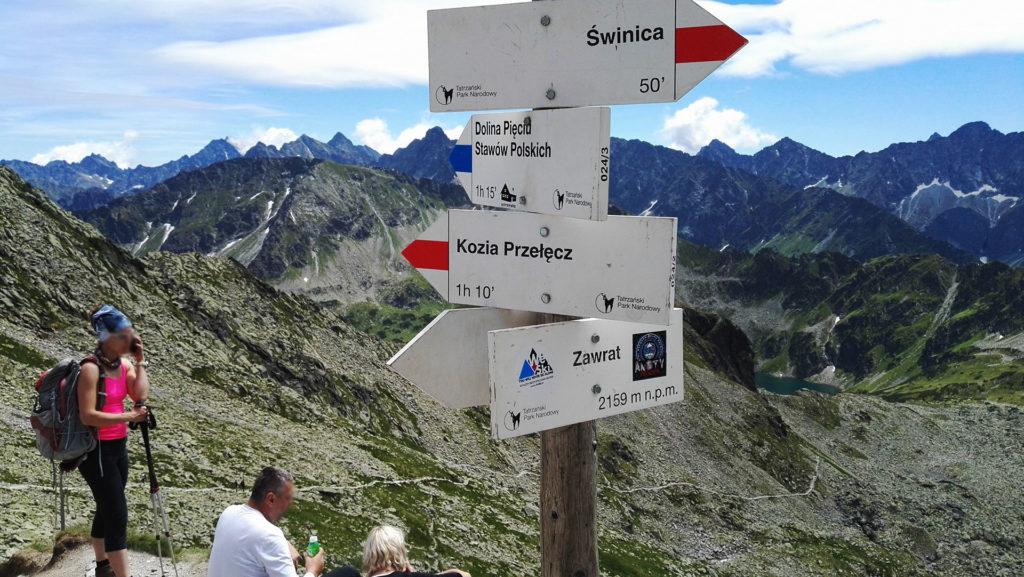Droga do Doliny Pięciu Stawów z Zawratu