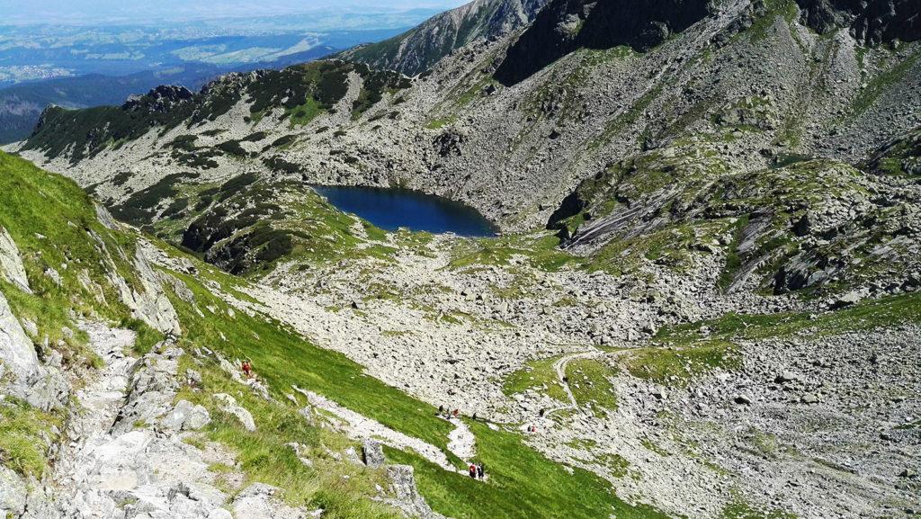 Zejście ze Świnickiej Przełęczy do Doliny Gąsienicowej