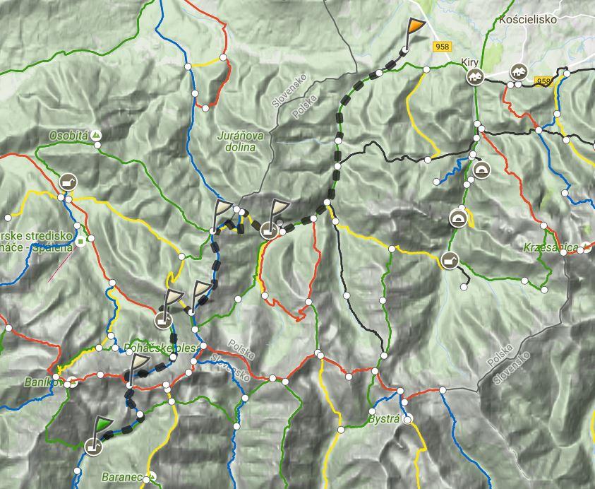 Mapa trasy (dzień 2), źródło: mapa-turystyczna.pl