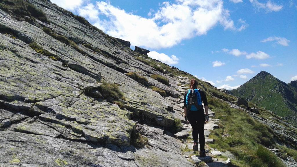 Trawers na szlaku na szczyt Kościelca