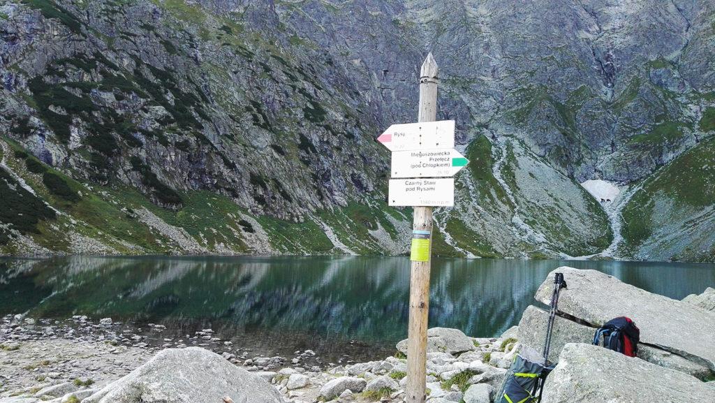 Początek szlaku na Mięguszowiecką Przełęcz Pod Chłopkiem