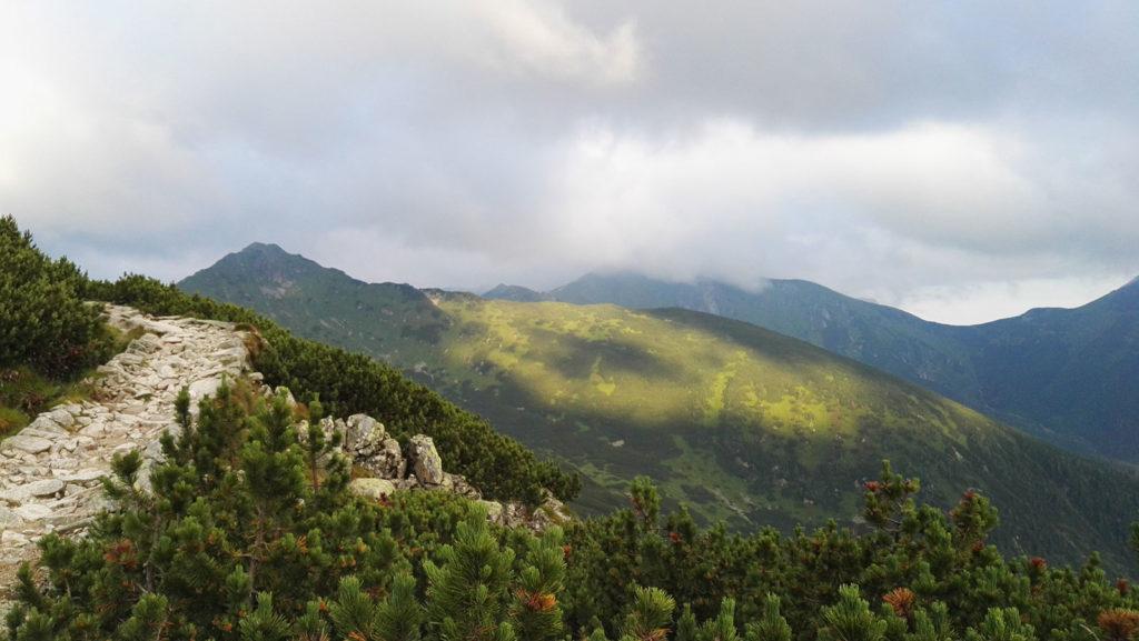 Szlak prowadzi zakosami na Kasprowy Wierch