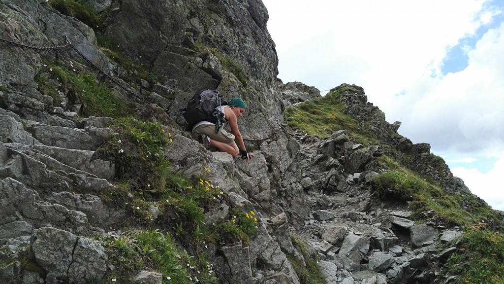 Końcowy fragment szlaku na Szpiglasową Przełęcz