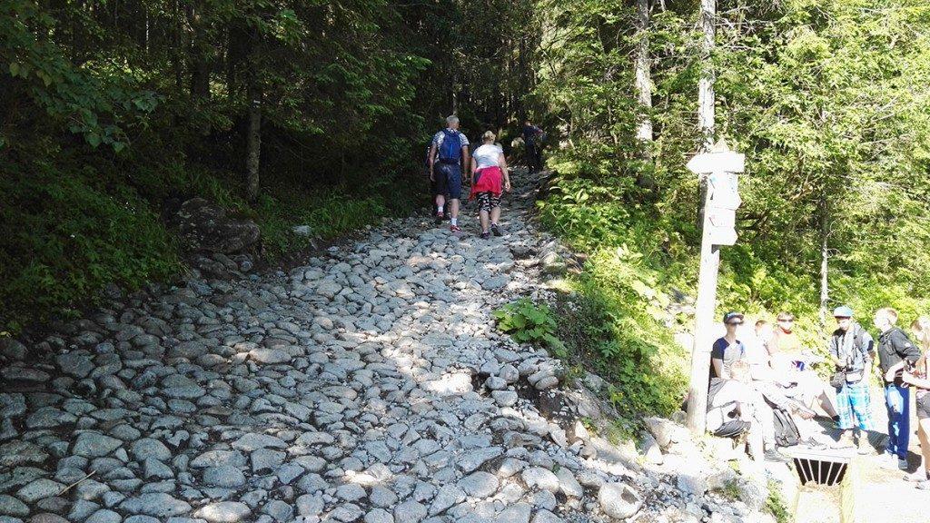 Szlak do Doliny Pięciu Stawów Polskich z Doliny Roztoki