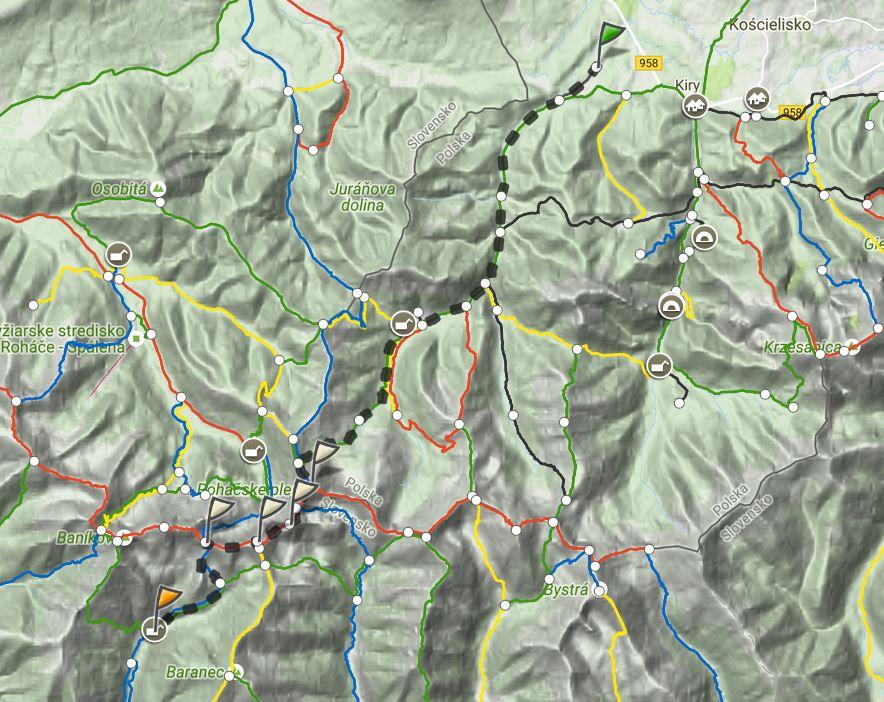Rohacze. Mapa trasy (dzień 1), źródło: mapa-turystyczna.pl