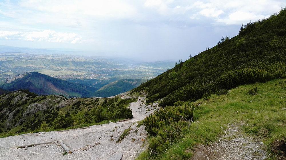 Tatrzańskie doliny. Szlak z Hali Gąsienicowej przez Boczań do Kuźnic
