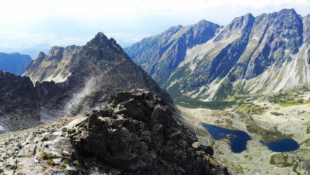 Widok z Rysów na Tatry Słowackie
