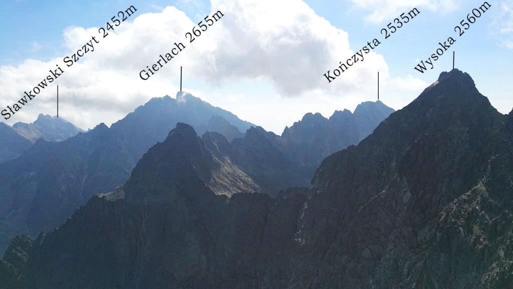 Panorama z Rysów na wschód