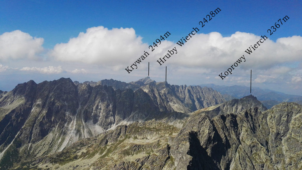 Panorama z Rysów na zachód