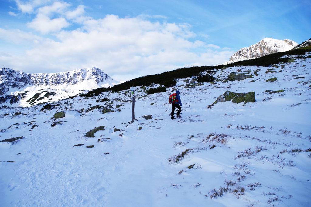 Początek czarnego szlaku na Kozi Wierch w Tatrach Wysokich