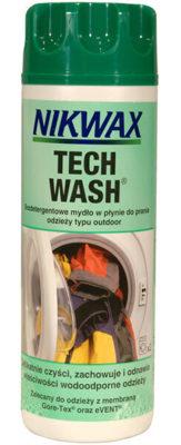 Impregnacja odzieży przeciwdeszczowej. Nikwax Tech Wash