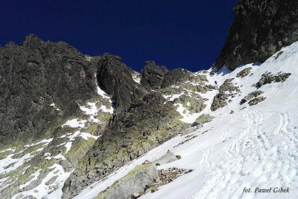 Opis wejścia na Baranie Rogi. Podejście na Baranią Przełęcz