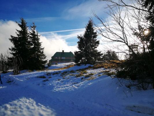 Czeskie schronisko górskie Masarykova chata