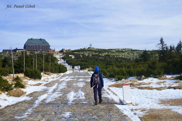 Szlak przez Śnieżne Kotły Szrenica Wodospad Kamieńczyka. Schronisko Szrenica