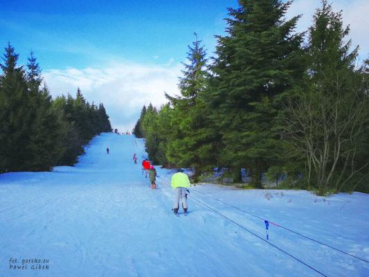 W poruszaniu się po trasach Zieleniec Ski Arena na grzbiecie góry pomagają wyciągi
