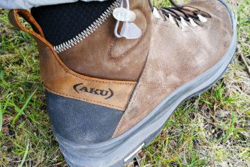 Test butów Aku La Val GTX. Logo Aku