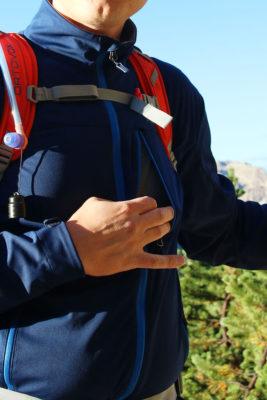 Softshell Marmot Leadville. Łącznie softshell wyposażono w cztery kieszenie