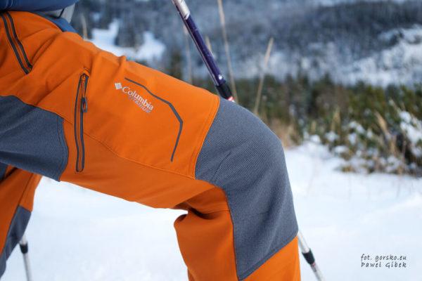 Spodnie softshellowe Columbia Titan Ridge II pochodzą z serii Titanium