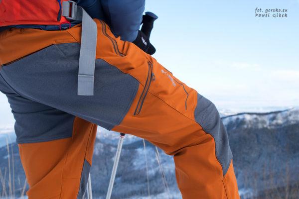 Wzmocnienia w spodniach softshellowych Columbia Titan Ridge II