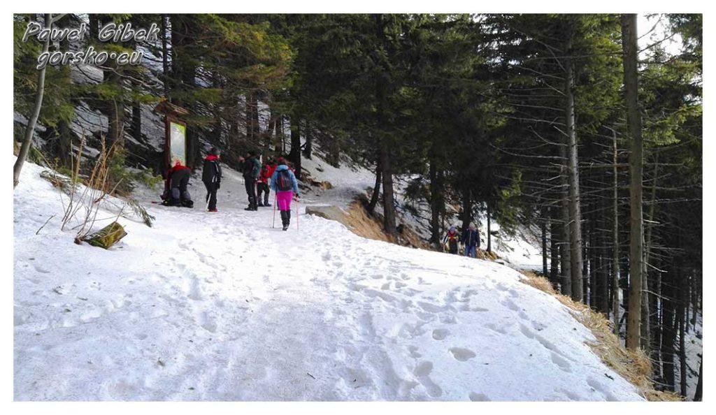 Śnieżnik-zimą.-Jedni-z-pierwszych-turystów-których-widzimy-tego-dnia-na-szlaku