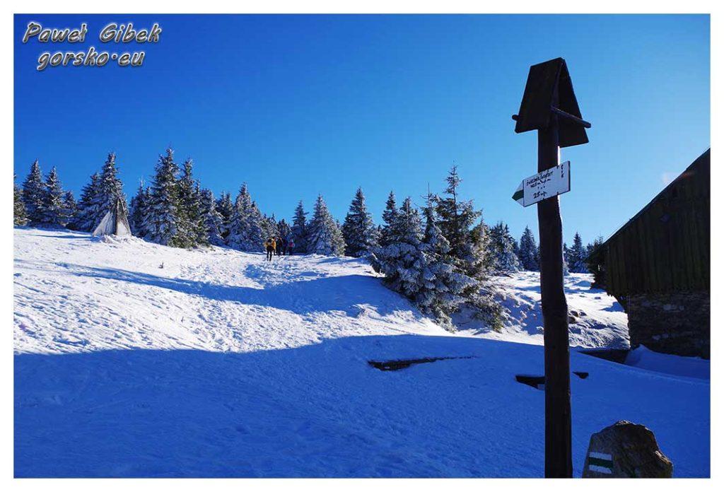 Śnieżnik-zimą.-Początek-zielonego-szlaku-na-Śnieżnik