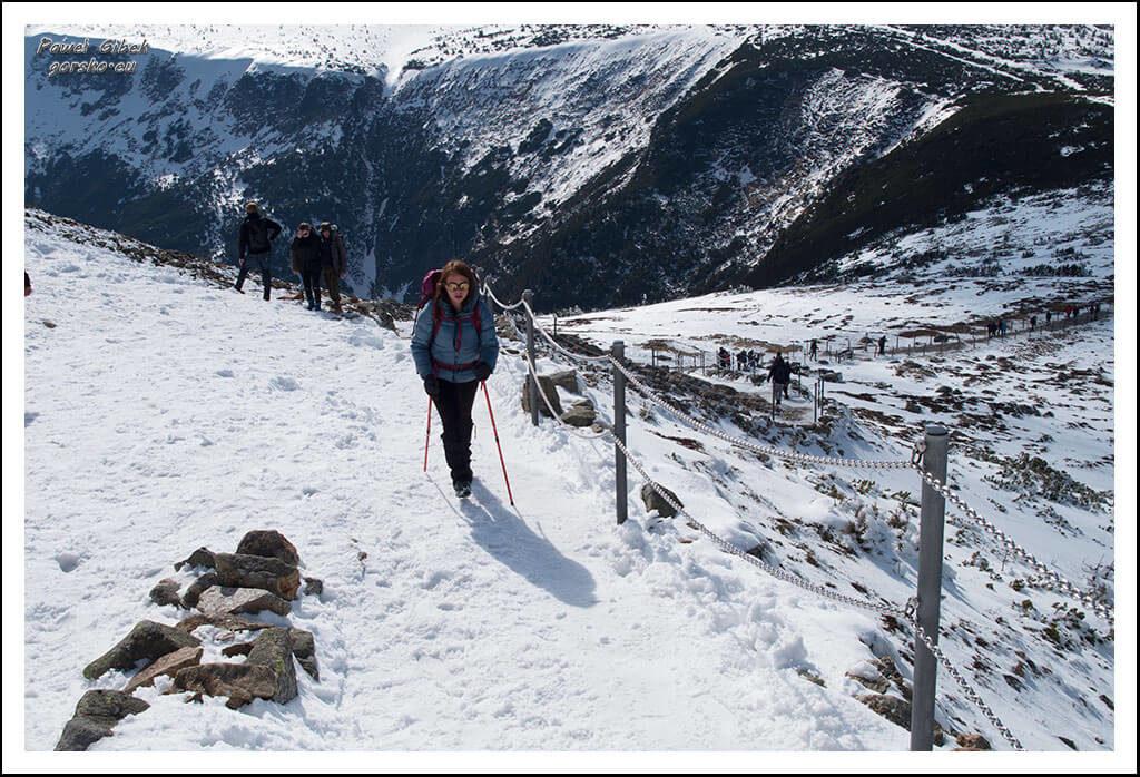 Szlak-na-Sniezke-Czechy-Podejście-na-szczyt-Śnieżki