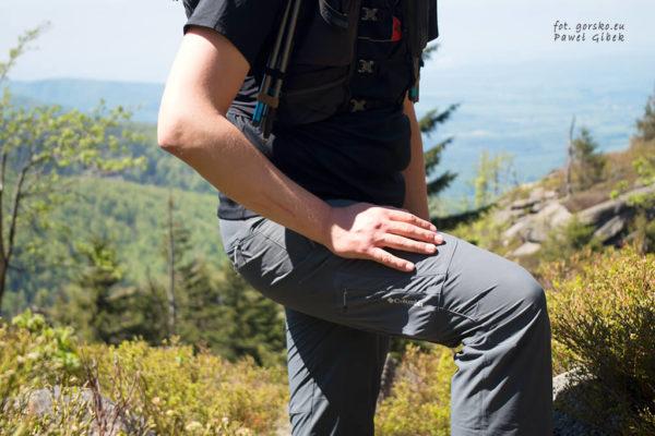 Test lekkich spodni w góry Columbia Titan Peak