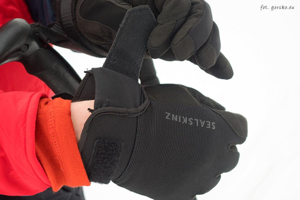 Rękawice wodoodporne Sealskinz Dragon Eye - mankiety na rzep