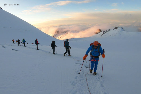 Kazbek - lodowiec Gergeti