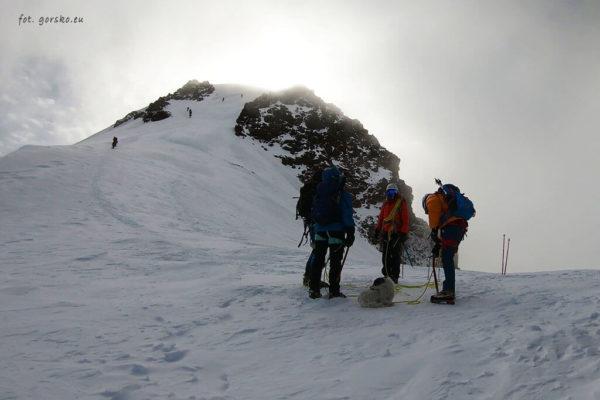 Kazbek - ostatnie podejście przez szczytem