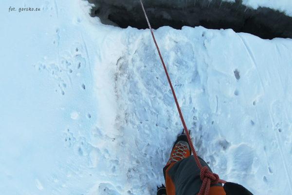 Raki Climbing Technology Lycan na lodowcu