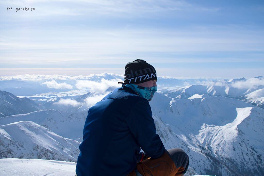 Czapka Columbia w Tatrach