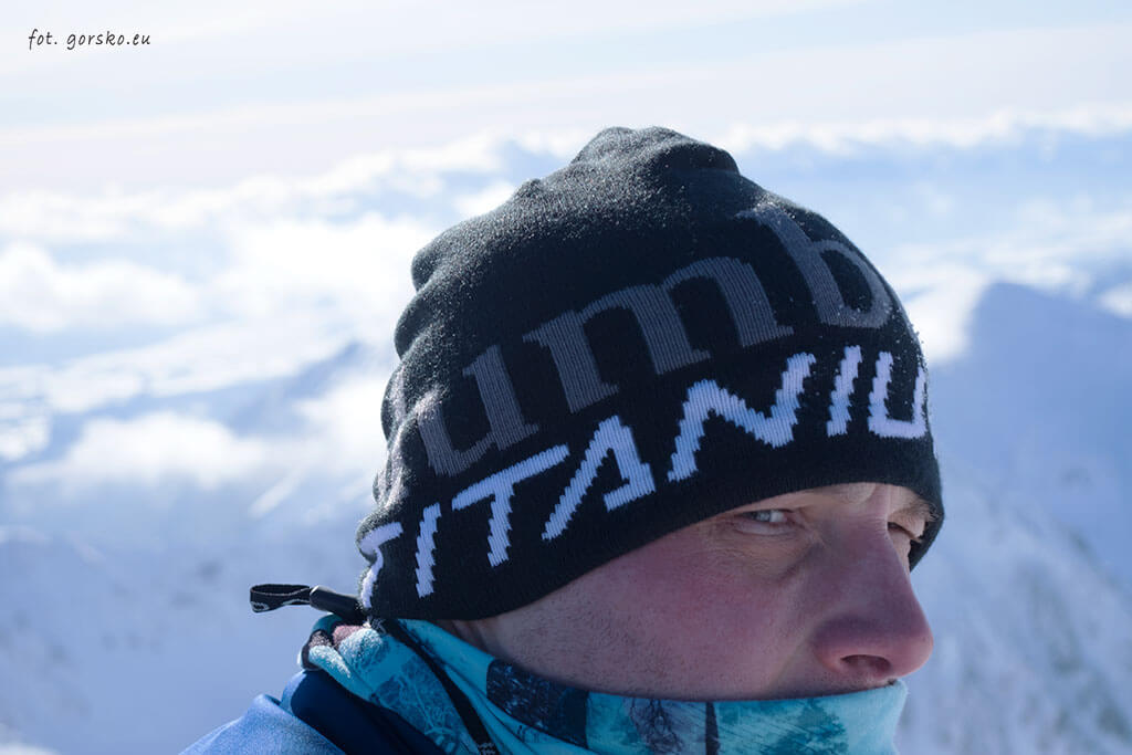 Czapka Columbia zimowa bok