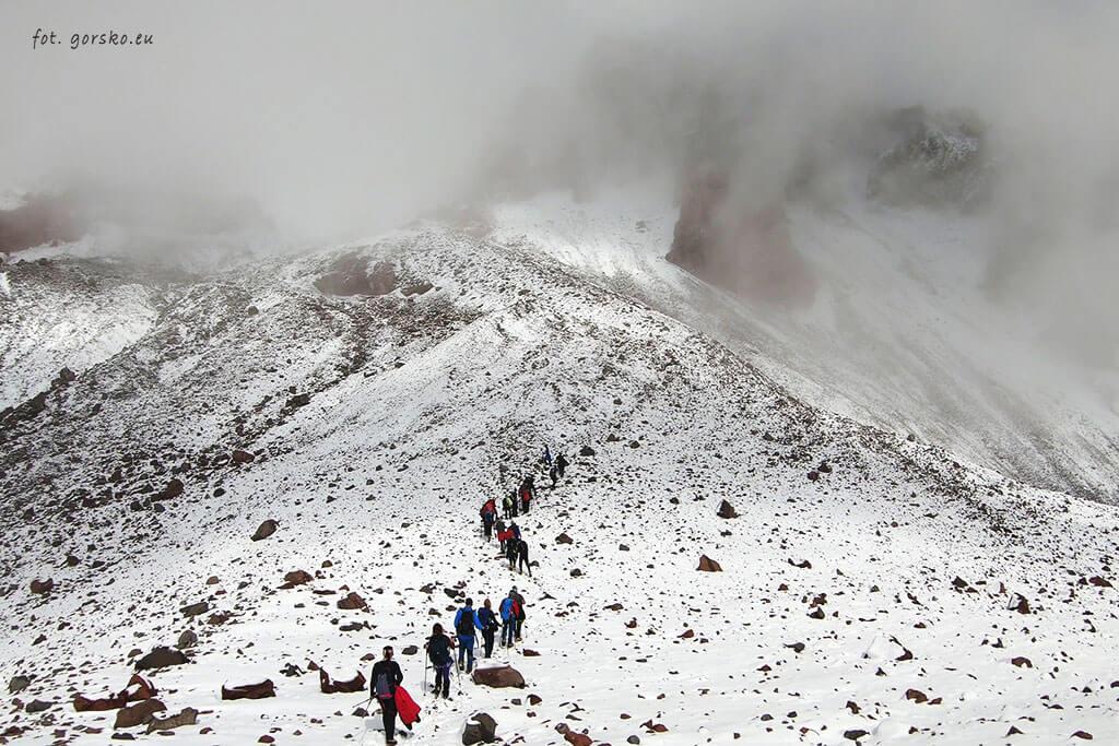 Kazbek wejście aklimatyzacja