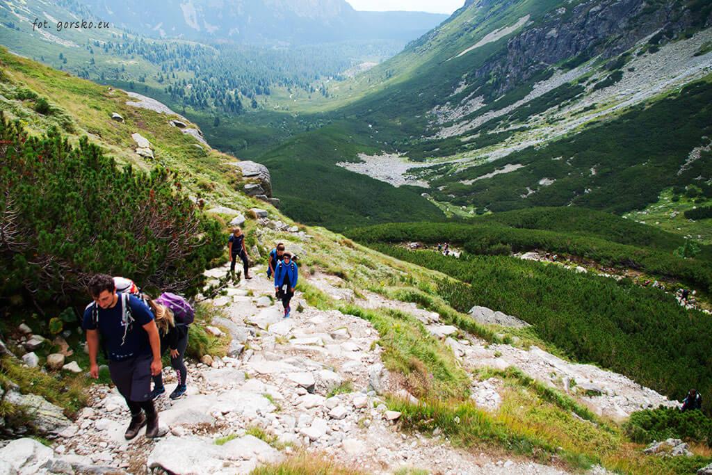Dolina Mięguszowiecka widok ze szlaku na Koprowy Wierch