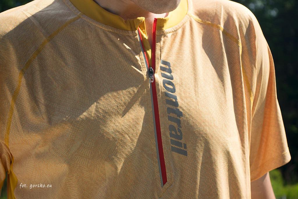 Koszulka-chłodząca-Columbia-Montrail-FKT-zamek