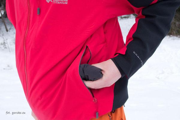 Kurtka narciarska Columbia Powder Keg III - kieszeń biodrowa