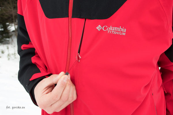 Kurtka narciarska Columbia Powder Keg III - kieszeń na klatce