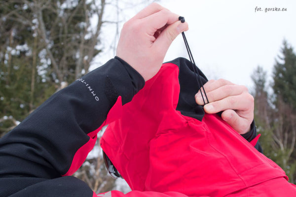 Kurtka narciarska Columbia Powder Keg III - regulacja kaptura