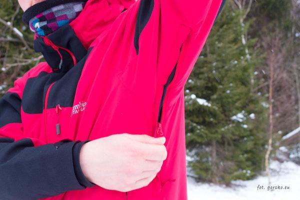 Kurtka narciarska Columbia Powder Keg III - wywietrzniki pod pachami