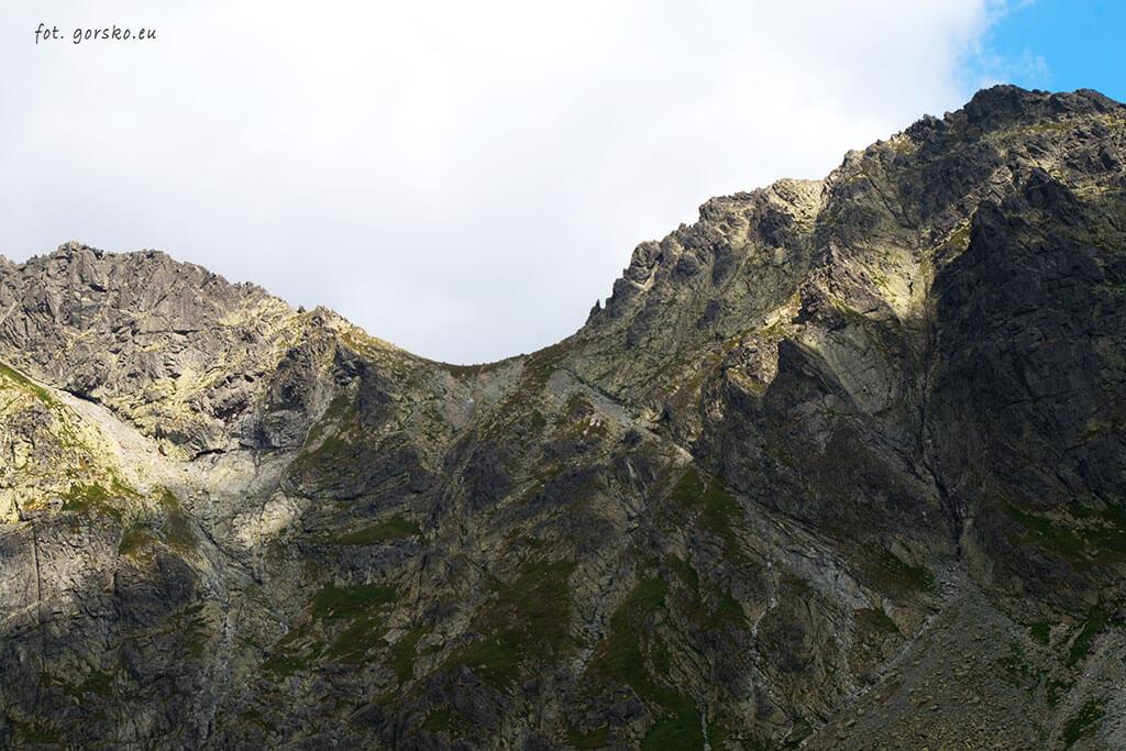 Mięguszowiecka Przełęcz pod Chłopkiem strona słowacja