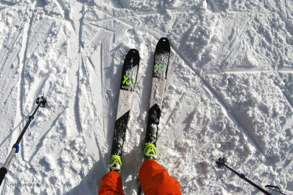 Narty skiturowe Volkl VTA 88 - taliowanie