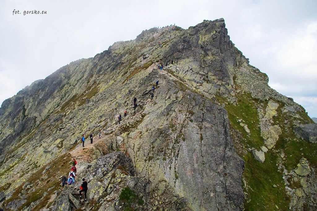 Podejście czerwonym szlakiem na Koprowy Wierch